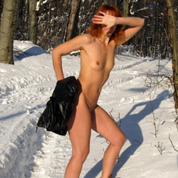 Snow White - Nude In Public, Redhead , Redhead, Nude In Public, Outdoors, Exhibitionist