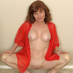 Red And Lace - Shaved, Big Tits