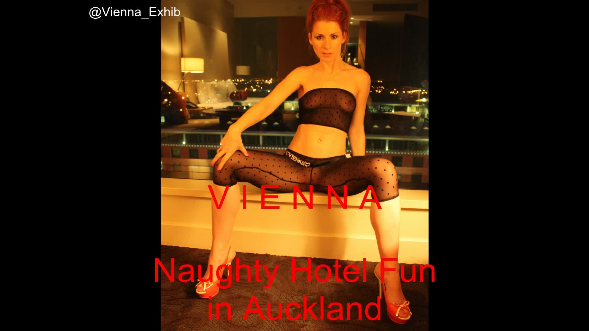 Pic #1Vienna - Naughty Hotel Fun In Auckland - See Through, Redhead, Public Place, Public Exhibitionist, Masturbation, High Heels Amateurs, Flashing, Softcore