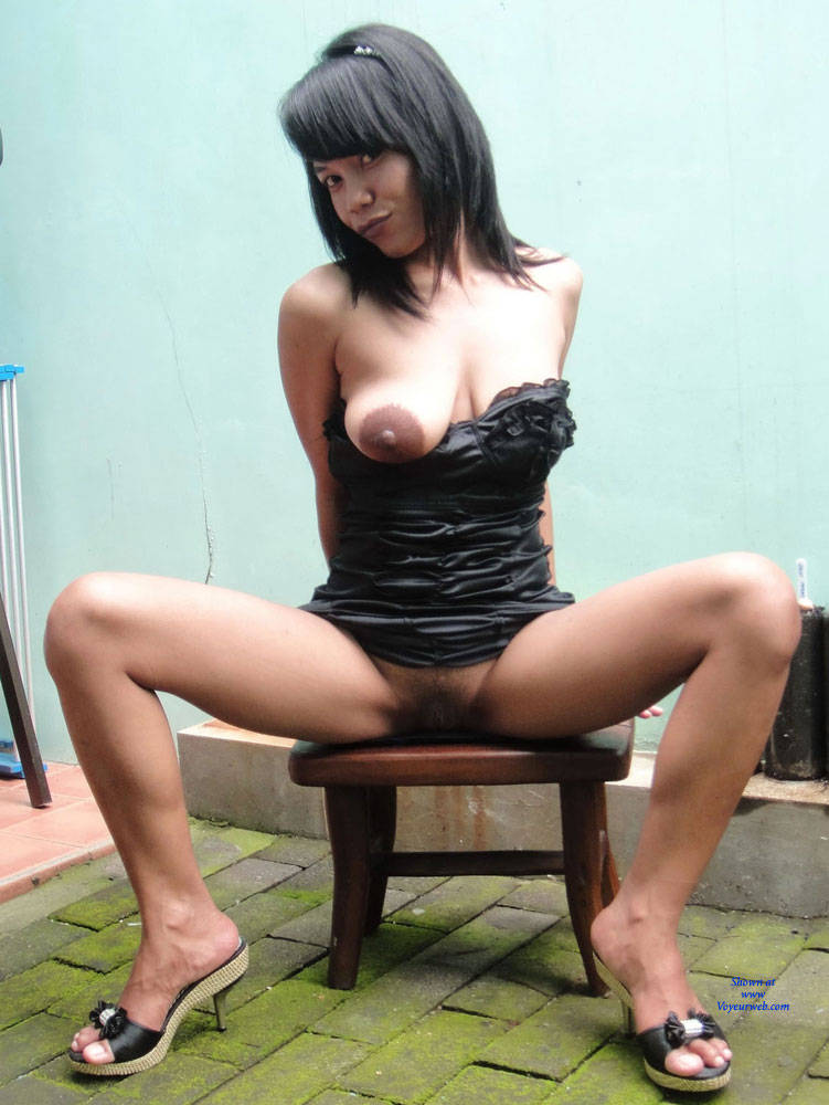 Under Her Black Dress - Big Tits, Brunette Hair , Asian, Tits, Dressed, Undressed, Big Tits