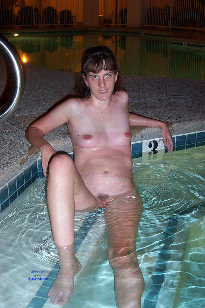 Wife nude in pool