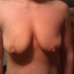 Medium tits of my wife - Sarah