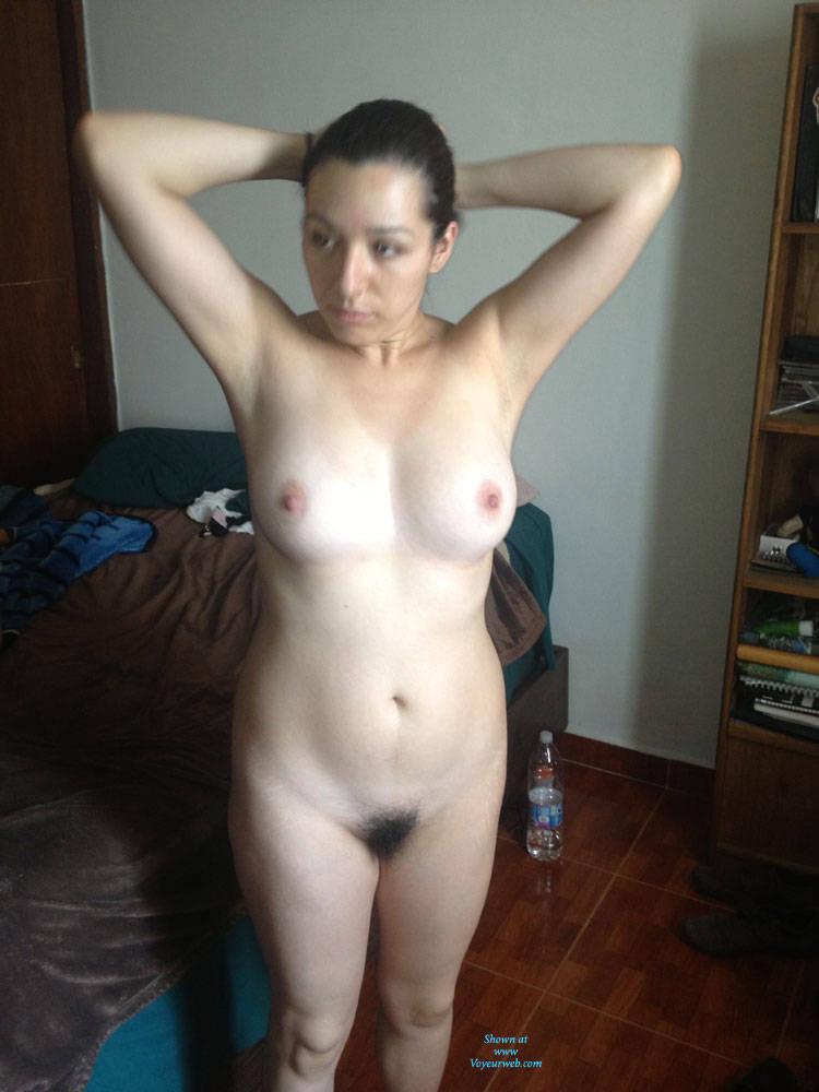Naked Brunette At Her Bedroom - May, 2015 - Voyeur Web Hall Of Fame-9317