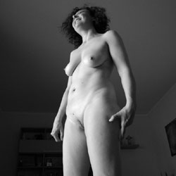 Wife In Black And White - Big Tits, Brunette, Wife/wives