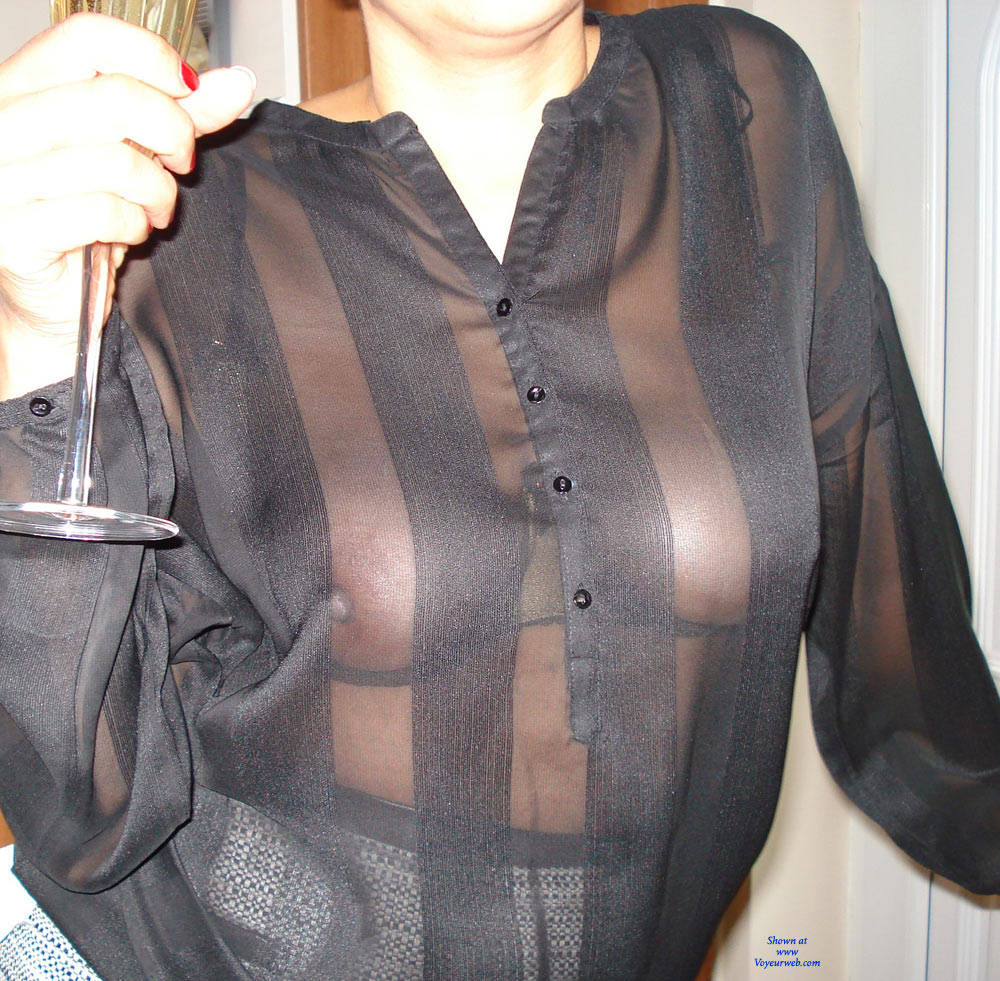 Lace mesh knot collar blouse nude envy label