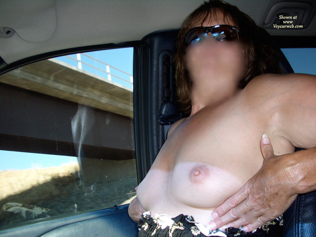 Sexy Grandma Flashing The Truckers , I Picked Grandma Up From The Airport After A 2 Week Vacation With Her Sisters, Mom & Grandma.<br />On The Way Home She Was Giving Me A Blow Job & A Trucker Started Blowing His Horn. Well That Got Her Really Horny. So After I Blew My Load Down Her Throat, She Decided To Start Flashing The Truckers.<br />That Got Her Even Hornier. Before Long She Had Her New Toy I Bought Her Out & Was Giving Them A Show They Won't Soon Forget. To See The Really Juicy Pics You'll Have To Go To Redclouds.