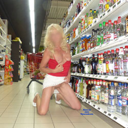 Nina In France - Blonde, Flashing, Public Exhibitionist, Public Place