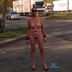 Parking - Big Tits, Public Exhibitionist, Public Place