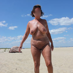 Another Beach Day - Mature, Big Tits, Beach, Wife/wives