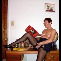 Black Stockings - Stockings, Sexy Panties , Black Stockings, Touching Front Of Black Panties, Mature Mamas