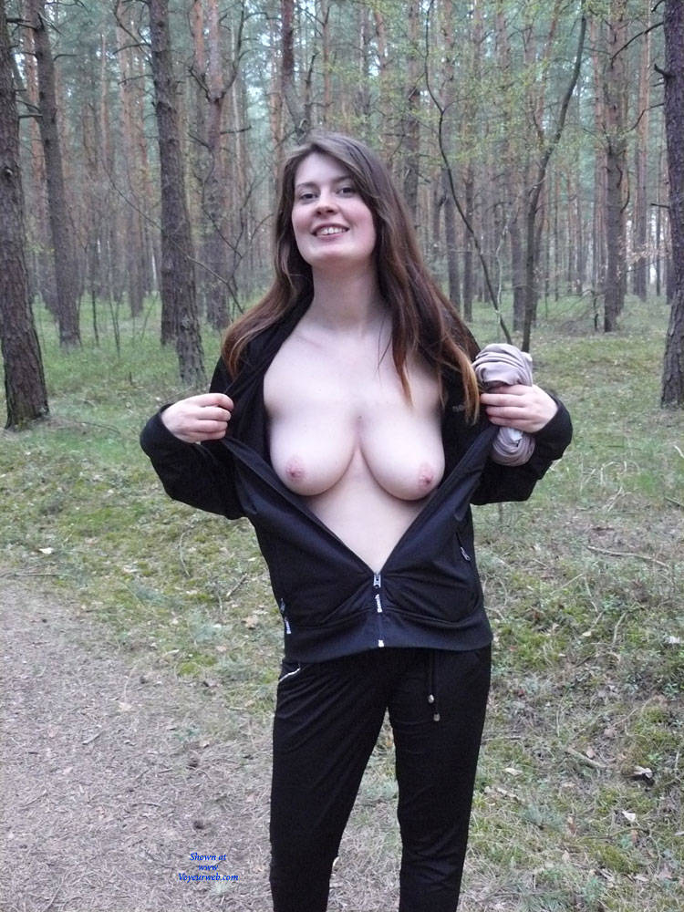 Nude in public walk big boobs