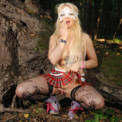 Lisa In The Forest - Big Tits, Blonde Hair, Nude In Public, Shaved, Tattoo , Naked, Nude, Slut, Horny Babe, Blonde