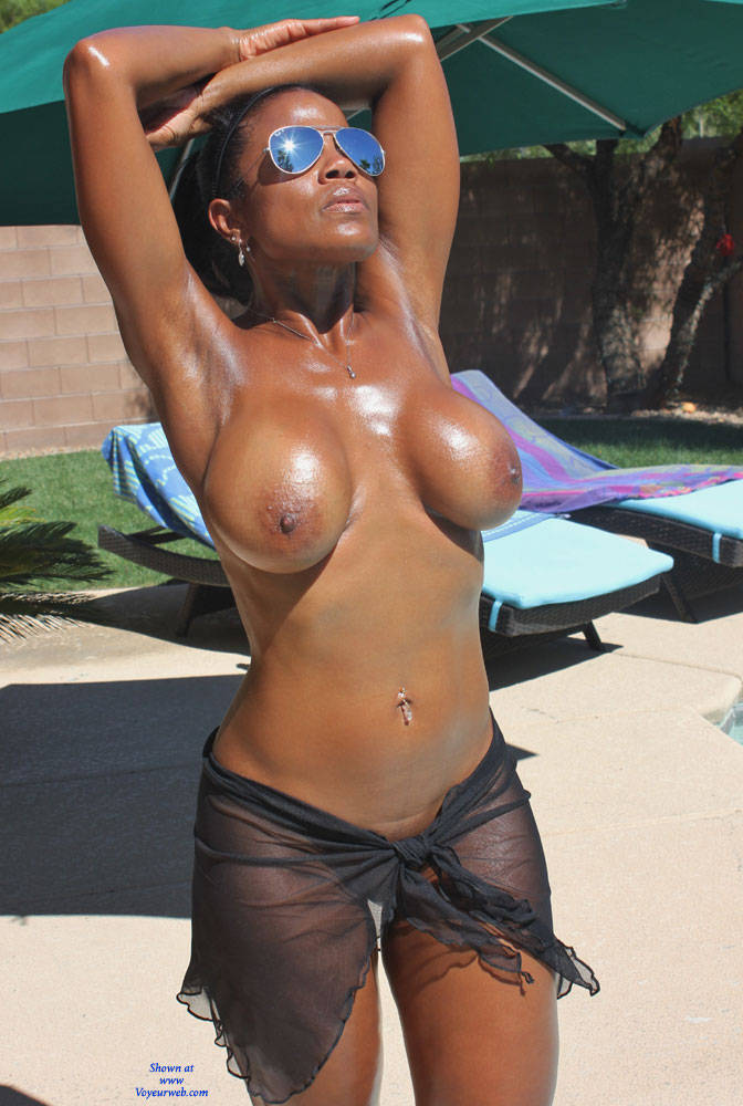 Pic #1Slippery When Wet - Shaved, See Through, Ebony, Big Tits, Wet Tits