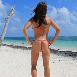 Sexy Beach Ass - Beach, Brunette