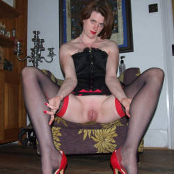 Scarlet Cat Takes An 18 Inch Double Header - Brunette, High Heels Amateurs, Lingerie, Toys