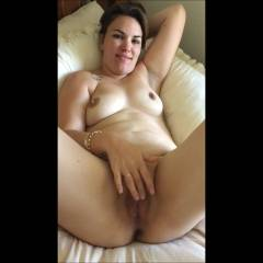 Play Time - Big Tits, Brunette Hair, Masturbation, Shaved, Wife/wives , Love Teasing Hubby As He Watches While Filming Me.