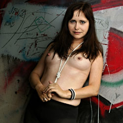 Topless Brunette With Graffiti Behind - Artistic Nude, Big Tits, Brunette Hair, Erect Nipples, Hard Nipple, Nipples, Nude Outdoors, Topless Outdoors, Topless, Hot Girl, Sexy Body, Sexy Figure, Sexy Girl , Sexy, Brunette, Nude, Babe, Outdoor, Topless, Hard Nipples