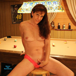 Nude Redhead At The Pool Hall - Chair, Indoors, Nipples, Redhead, Shaved Pussy, Small Tits, Hairless Pussy, Sexy Body, Sexy Legs, Sexy Panties, Wife/wives , Redhead, Pool Hall, Pantie, Pussy, Tits, Legs