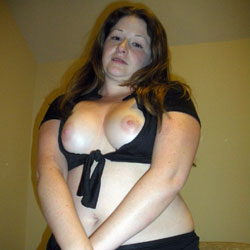 Audrey's Black Sexy And Naughty Outfit - Big Tits