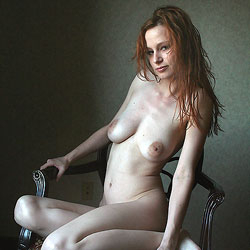 Air-Drying Her Red Hair