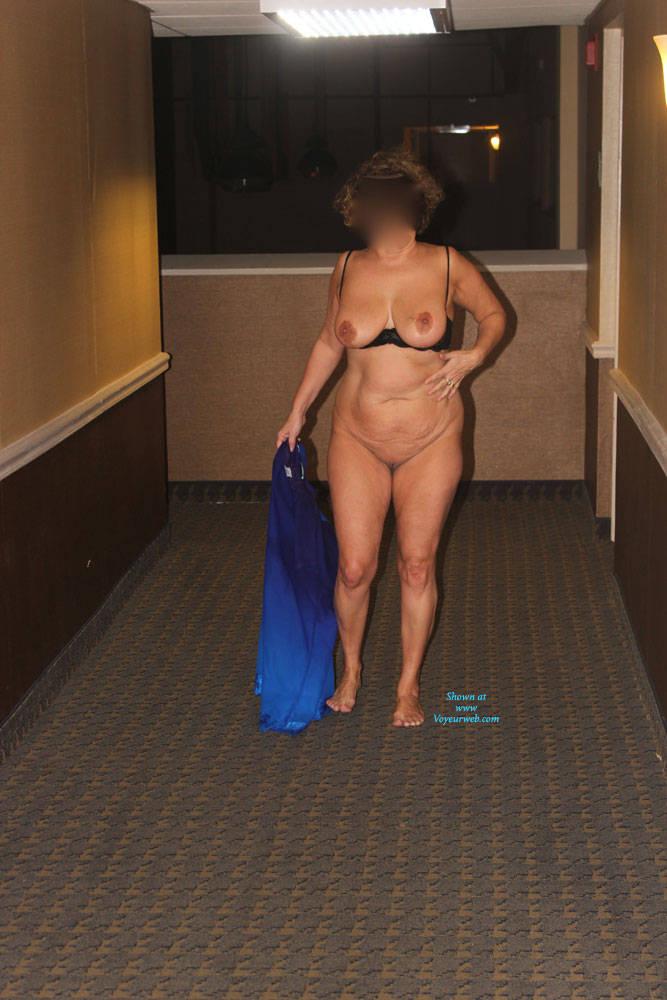Pic #1Hotel Fun - Big Tits, Public Exhibitionist, Public Place