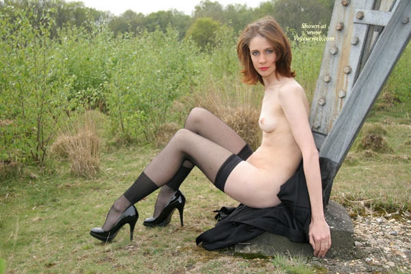 Nude Girl In Black Stockings And High Heels Posing Outdoors - Firm Tits, Heels, Small Tits, Stockings, Naked Girl, Nude Amateur , Slim And Elegant - Small Tits, Black Thigh-high Stockings, Black Coat, Small Firm Tits, Spike Heels, Slim Beauty Outdoors, Black High-heel Pumps, Auburn Hair, White Body Blacks Panties On Nature, Naked Outdoors, Black Patent Heels, Black Nylons