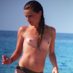 Wet And Topless Brunette At The Beach - Brunette Hair, Nipples, Nude Beach, Nude Outdoors, Showing Tits, Small Tits, Topless, Wet, Beach Tits, Beach Voyeur, Sexy Body, Sexy Girl , Wet, Topless, Brunette, Small Tits, Beach, Nude