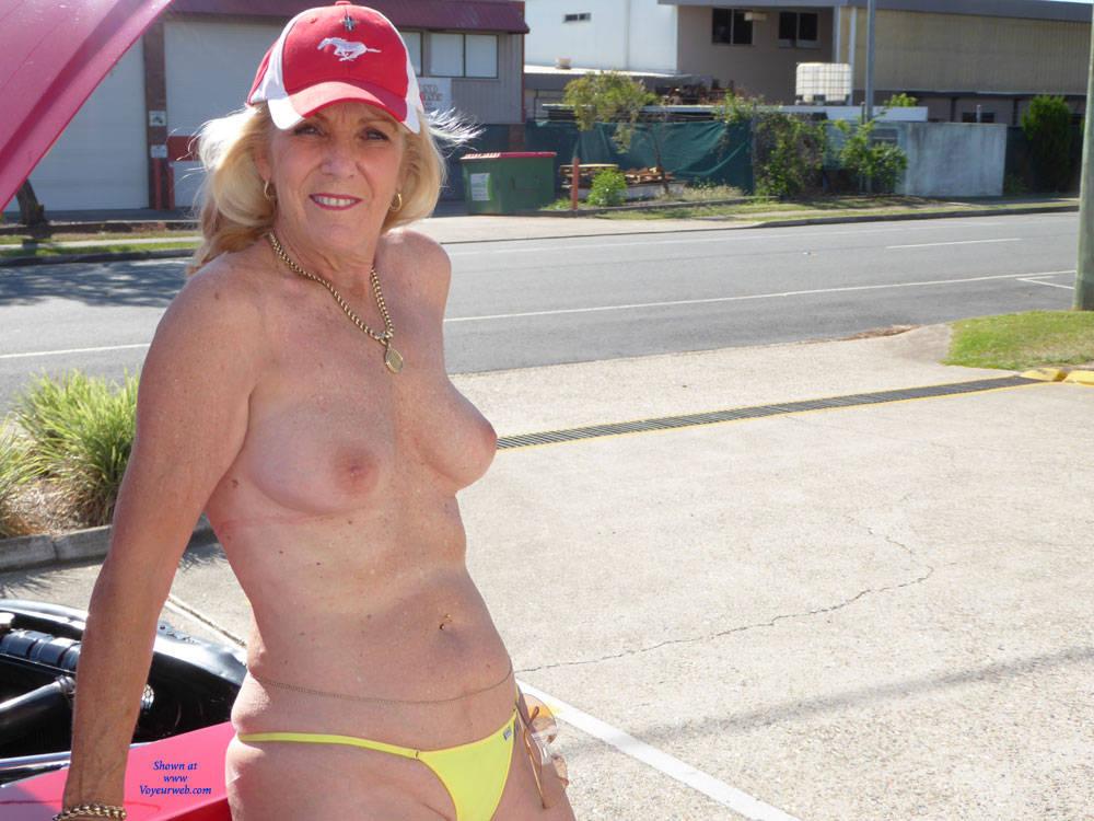 Pic 1 Mustang Marg Part 2 Big Tits Bikini Voyeur Public Exhibitionist