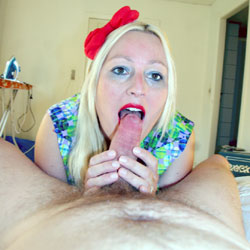 Red Lips And Blowing Part 2 - Blonde, Blowjob