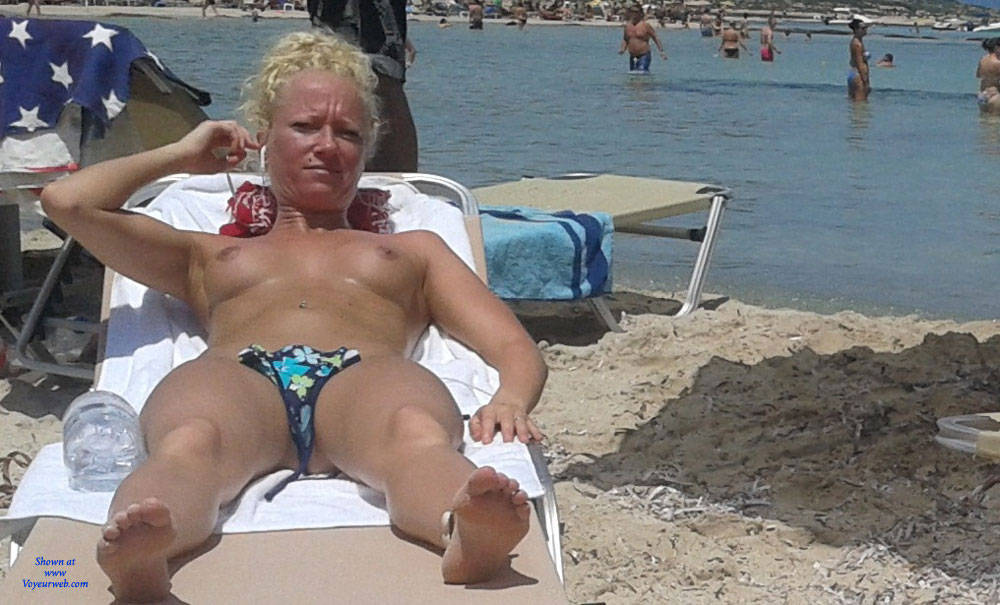 Beauty - Blonde Hair, Beach Voyeur , In Greece..