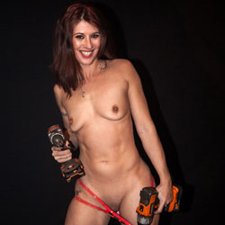 Naked Handyman Girl - Brunette Hair, Full Nude, Nipples, Small Tits, Naked Girl, Sexy Body, Sexy Girl, Sexy Legs , Sexy, Naked, Tools, Small Tits, Shaved Pussy