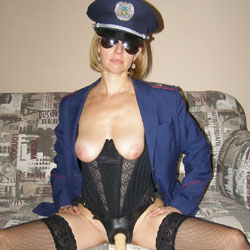 Arrest Me - Big Tits, Sexy Lingerie, Toys, Strap On , Nude, Strap On, Dirty Cop, Nude Officer