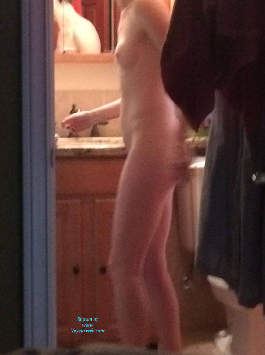 wife getting ready for work naked