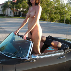 Convertible Cruising - Big Tits, Public Exhibitionist, Public Place