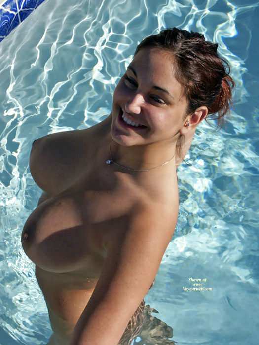 Nude Girlfriend Standing In A Pool - Big Tits, Brown Hair, Large Aerolas, Large Breasts, Topless Girl, Naked Girl, Nude Amateur , Smilling Face, Proud As A Peacock, Sexy Girlfriend, In Pool, Sexy Figure, Outdoor Tits, Breasts Well Above The Water, Standing In Pool, Hot Girl, Large Round Tits, Water Wings