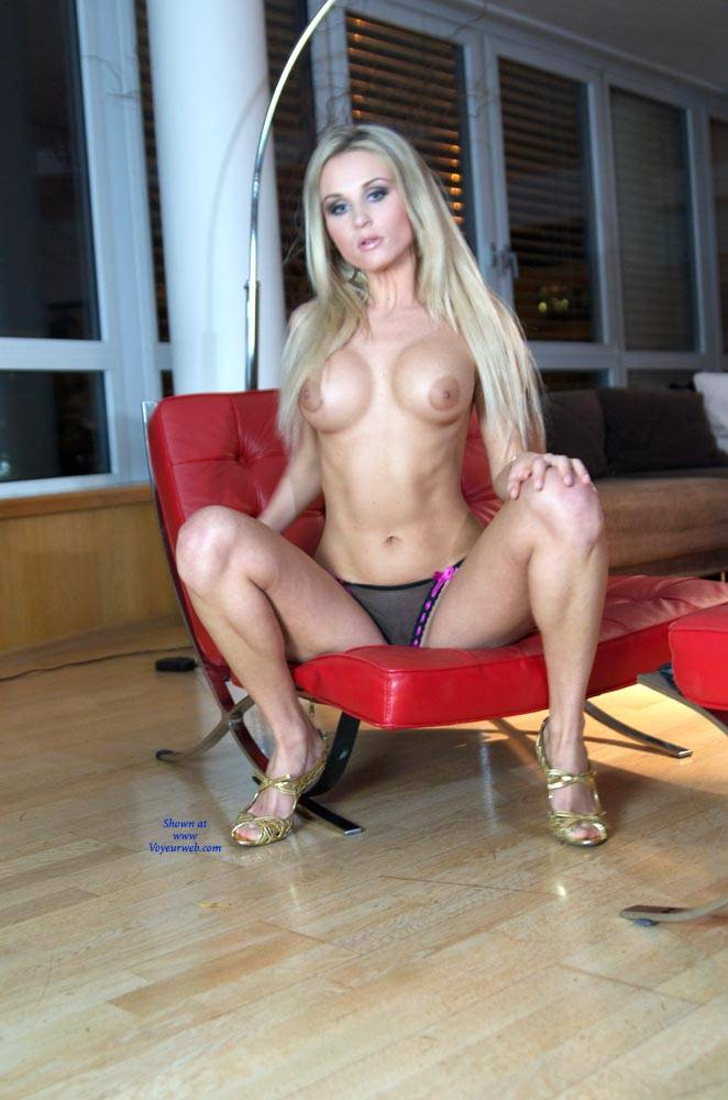Blonde naked on lounge chair are not