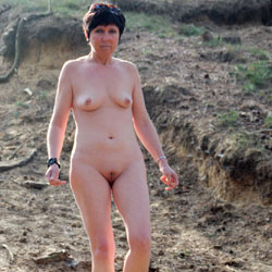 Walking In The Woods - Brunette, Nature, Shaved