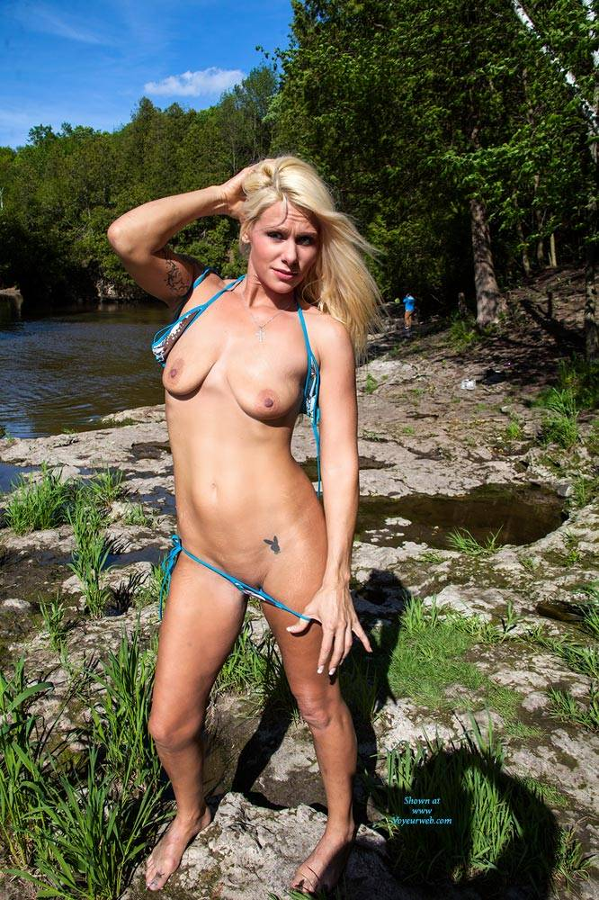 Sexy Blonde Stripping At The River - Big Tits, Blonde Hair, Firm Tits, Natural Tits, Nude In Nature, Nude In Public, Nude Outdoors, Shaved Pussy, Strip, Tattoo, Sexy Body, Sexy Girl, Sexy Legs , Nude, Nature, Stripping, Tits, Pussy, Sexy Legs
