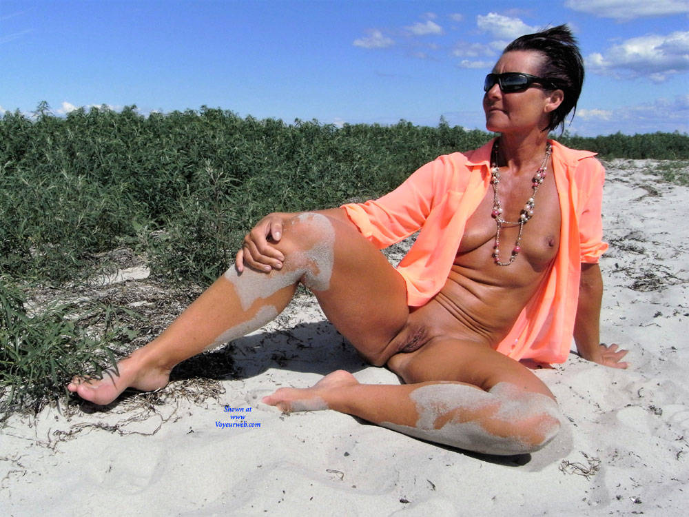 Pic #1A Day At The Beach - Beach, Brunette, Shaved, Wife/wives