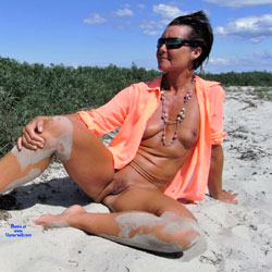 A Day At The Beach - Beach, Brunette, Shaved, Wife/wives
