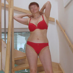 Red Lingerie - Mature, Lingerie, Big Tits, Wife/wives