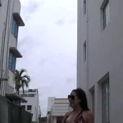 My Wife Teasing Public Beach Voyeurs, Pussy Slip OOPS!