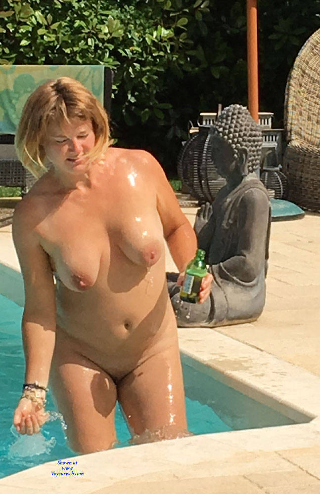 Pic #1Sunbathing By The Pool - Big Tits, Wife/wives
