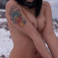 Medium tits of a co-worker - Heidi