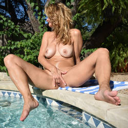 Horny Blonde Playing Pussy AT Pool - Big Tits, Blonde Hair, Full Nude, Masturbation, Nude Outdoors, Perfect Tits, Shaved Pussy, Showing Tits, Sexy Body, Sexy Legs, Toys, Wife/wives , Sexy, Nude, Pool, Playing Pussy, Big Tits