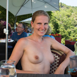 Bri NIP In France - Flashing, Public Exhibitionist, Public Place, Shaved