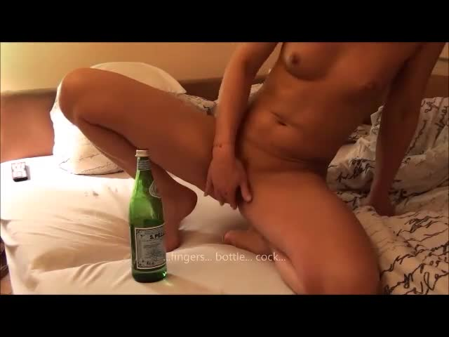 Pic #1Fingers, Bottle, Cock - Anal, Ass Fucking, Blonde, Masturbation, Penetration Or Hardcore