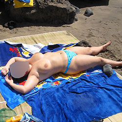 My Wife On The Beach - Beach, Big Tits, Topless Wives