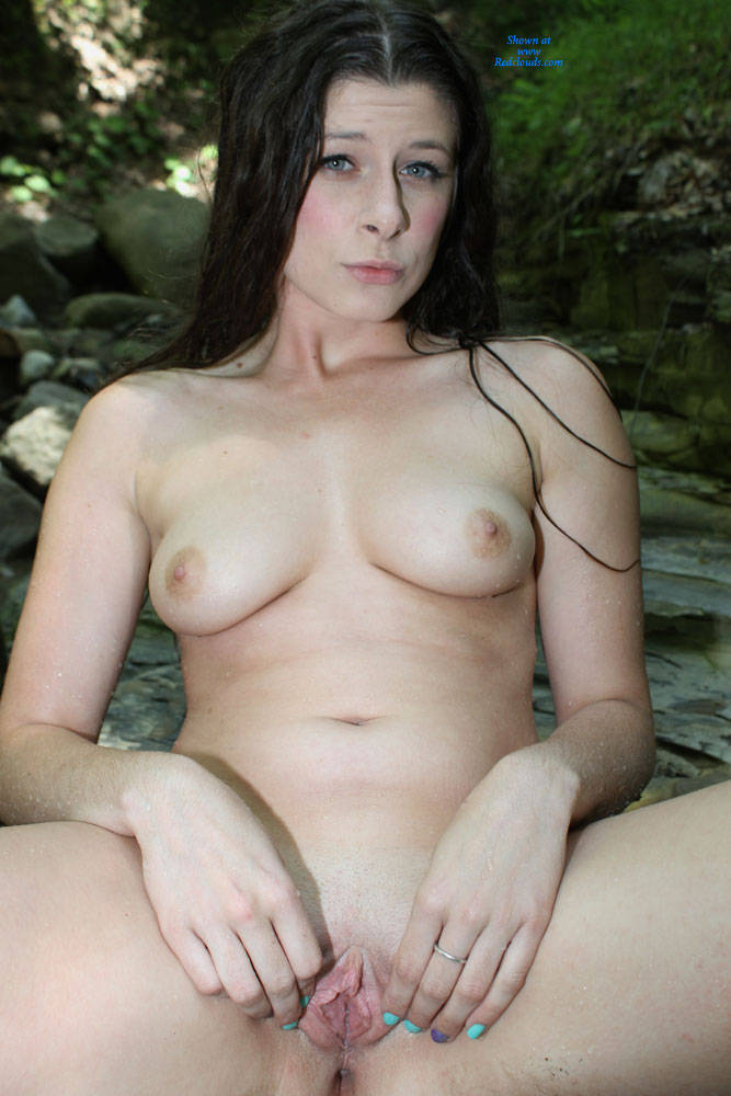 Pic #1Callie's Back And Naked Outdoors - Outdoors, Nature, Brunette, Big Tits, Shaved