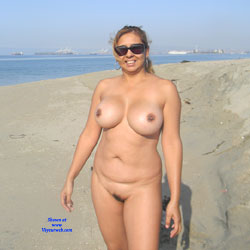 Nina Latina On The Beach - Beach, Big Tits
